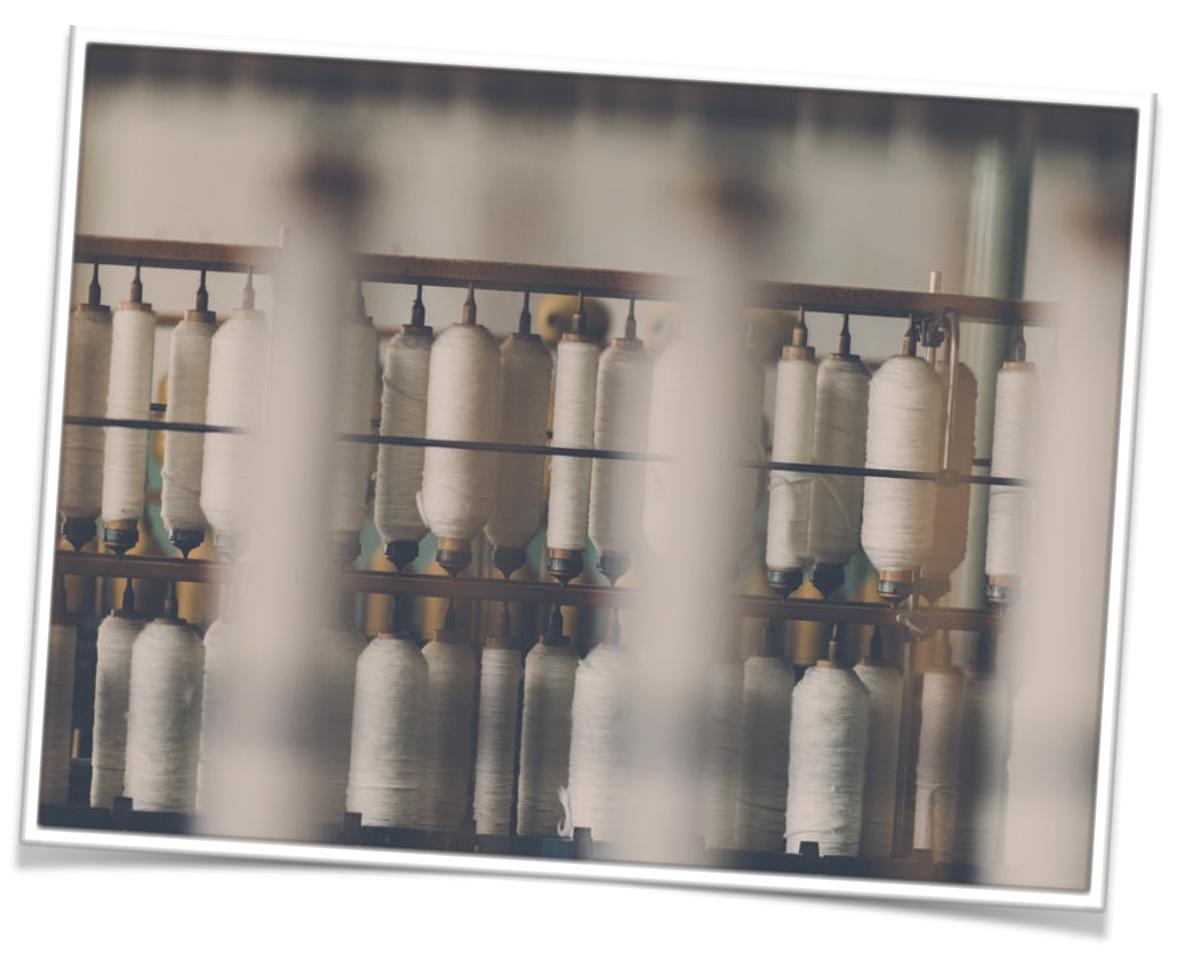 mécanisme de tissage du coton peigné